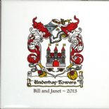 Family Crest Personalised ceramic tile, ref FCT1